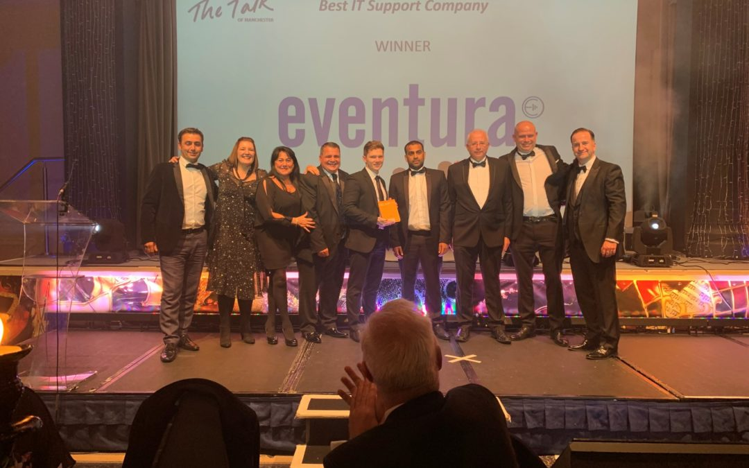 Eventura awarded Best IT Support Company for the second year at the Talk of Manchester Awards